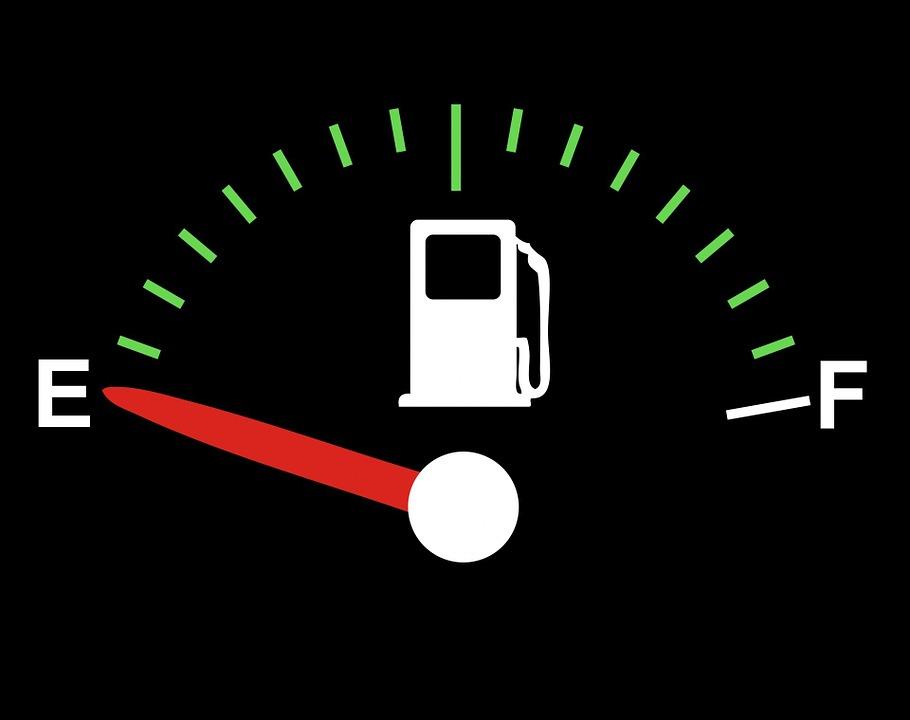 grafika palivoměru