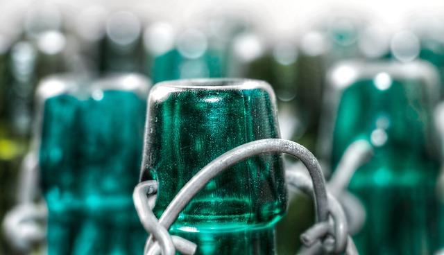 zelená láhev
