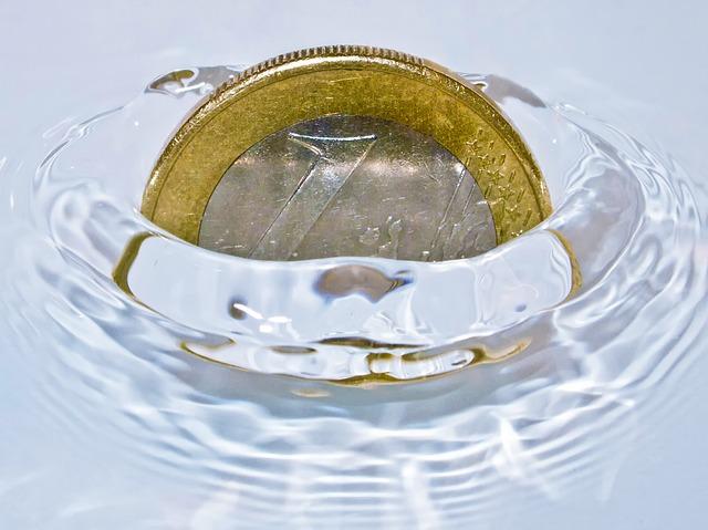 euro ve vodě