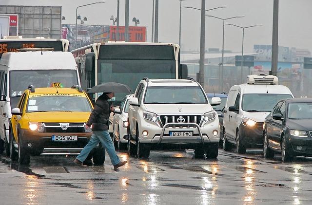 rušný městský provoz