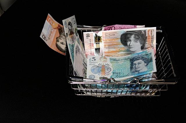 Košík plný peněz